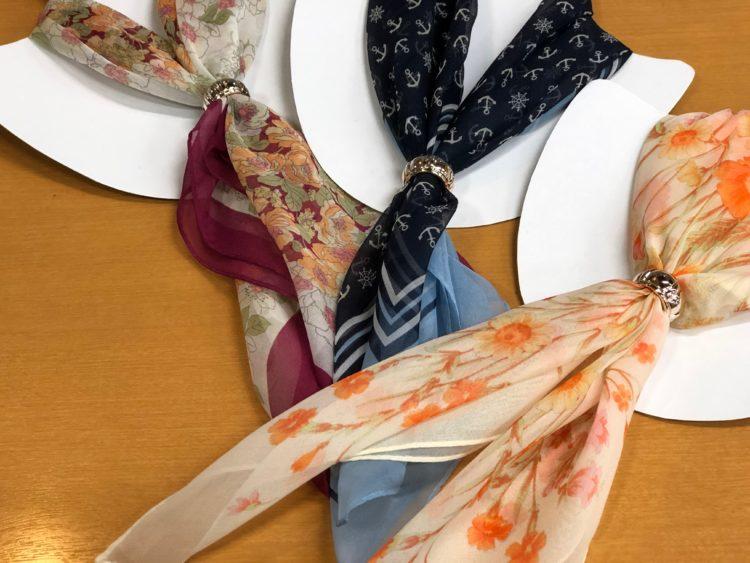 シルクのスカーフ